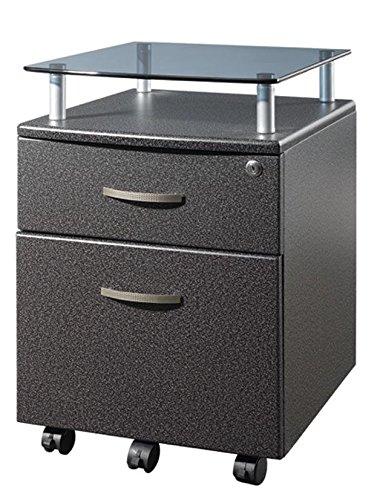 TECHNI MOBILI Seguro Mobile 2 Drawer File Pedestal in Graphite -