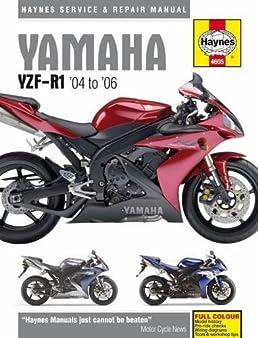 yamaha yzf r1 04 to 06 haynes service repair manual editors rh amazon com 2001 Yamaha V Star Motorcycle Owners Manual Yamaha Motorcycle Parts Manual