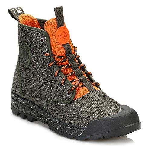 Palladium Men's Pampatech Hi TX Combat Boot, Castlerock/Mykonos Blue, 9 UK Green
