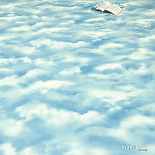 PVC Bodenbelag Wolke Himmel Blau Sky Blue Breite 2 m (9,95 € p. m²)
