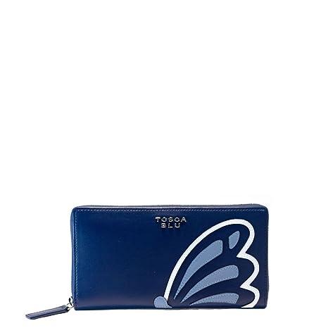 official photos b42c3 a4c9e Portafoglio Tosca Blu con zip Michelle TS177P303 blu: Amazon ...