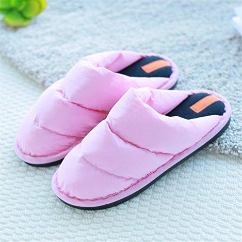 mhgao Lady plumas y zapatillas de algodón zapatillas de casa interior caliente en otoño y invierno 3