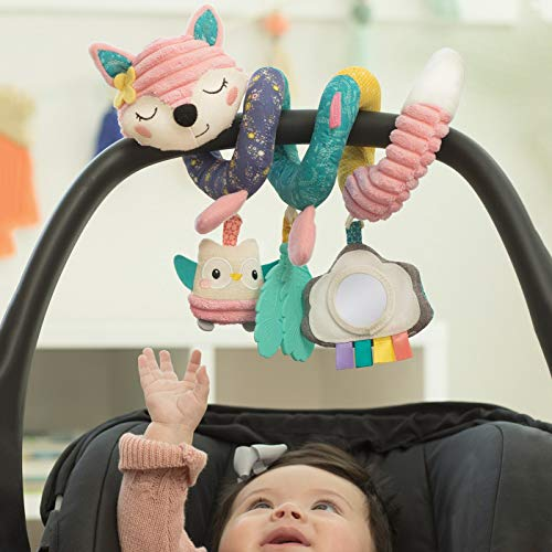 The Infant Going GaGa Spiral Car Seat Activity Toy - Pink for Newborns & Up