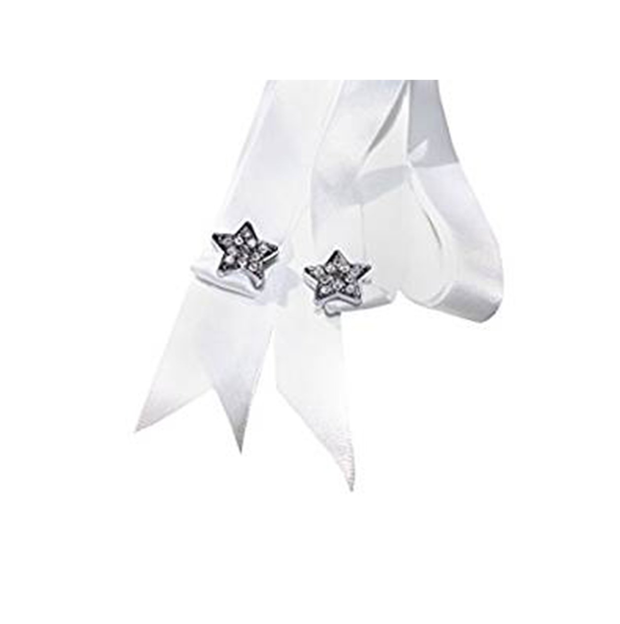 Stunning Crystal Star Shoe/Trainer Charms with a FREE Pair of Our White Satin Ribbon Laces (Women's Fits Shoe Size 3 to 8)