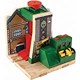 Fisher-Price Thomas & Friends - Wooden Railway Steamworks Lift & Repair - English Edition