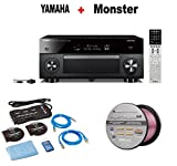 Yamaha AVENTAGE Audio & Video Component Receiver,Black (RX-A3070BL) + Monster Home Theater Accessory Bundle + Monster - Platinum XP 50' Compact Speaker Cable Bundle