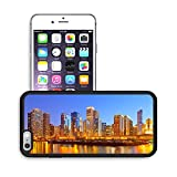 Luxlady Premium Apple iPhone 6 Plus iPhone 6S Plus Aluminum Backplate Bumper Snap Case IMAGE ID: 20283107 City of Chicago USA colorful sunset panorama skyline of downtown with illuminated business bui