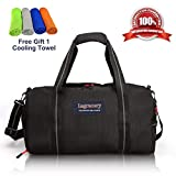 La Gracery Sports Gym Bag with Shoes Compartment & Dry Wet Separation Layer