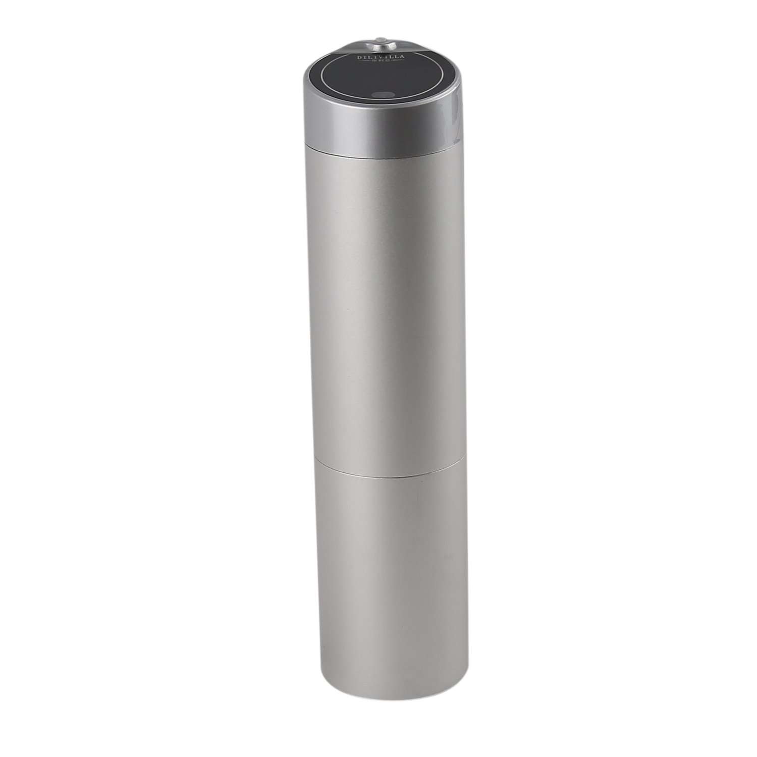 Hiliss Ultrasonic Strong Mist Aroma Diffuser Air Machine Electric Scent Diffuser Essential Oil Sprayer (Silver)