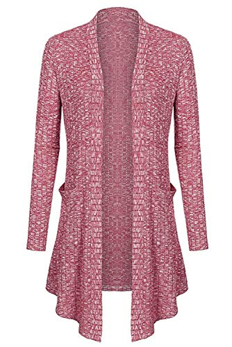 Col Casual Sweater Blouson Long Irr Tunique Asymetrique Crochet Elegant Tricot Mi Longue Long Outwear Gilet Cardigan Maille Ouvert Pull V Landove Manche Femme Manteau Chandail Sweatshirt CZzqWa