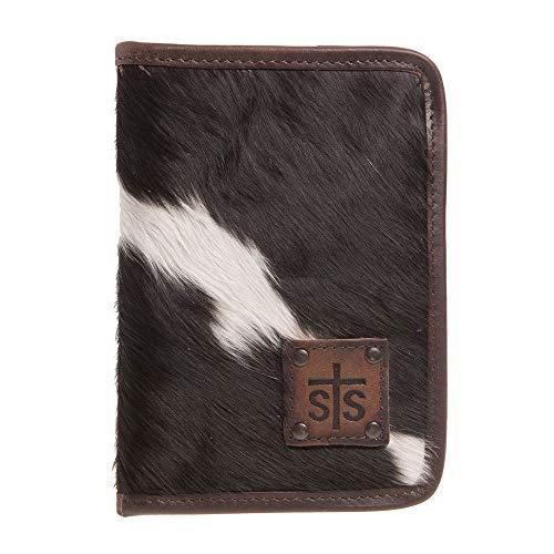 STS Ranchwear Women's Magnetic Wallet/Travel/Passport Case Cowhide One - Large Case Passport Calf