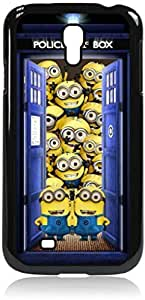Tardis with Minions - Despicable me - Dr. Who - Hard Black Plastic Snap - On Case --Samsung? GALAXY S3 I9300 - Samsung Galaxy S III - Great Quality!