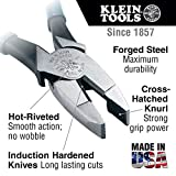 High Leverage Pliers, 9-Inch Side Cutters with 46-Percent More Gripping Power than Other Pliers Klein Tools D213-9NE