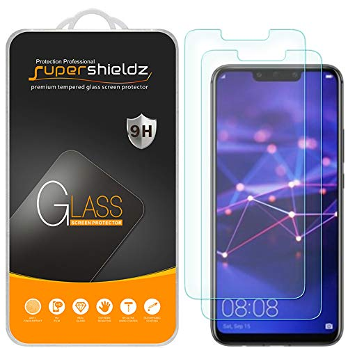 [2-Pack] Supershieldz for Huawei (Mate 20 Lite) Tempered Glass Screen Protector, Anti-Scratch, Bubble Free, Lifetime Replacement