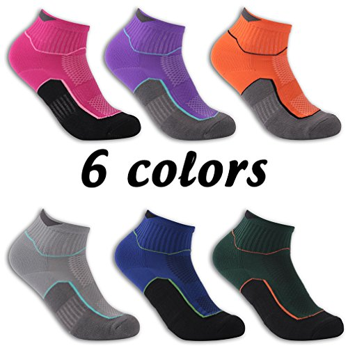 Luccalily Workout Ankle Socks, Unisex Seamless Toe Heel Cotton Sports Training Socks 1 Pair Dark Green