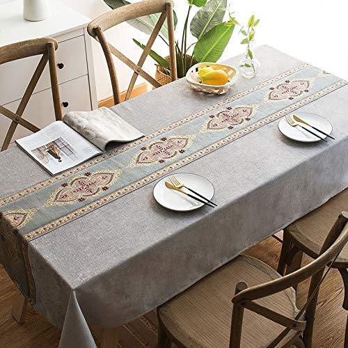 Lj-Jie Mantel Simple, Tela de Lino de algodón, decoración de Mesa ...