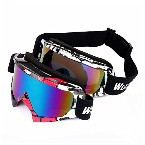 Youth Snowboard Goggles - Ski Snowboard Goggles - BYJ-017 UV400 Protection Ski Goggles Sports Snowboarding Skate Snow Sunglasses Eyewear - Red (Ride Snowboard Goggles)
