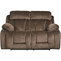 Ashley Furniture Signature Design - Stricklin Power Reclining Sofa - Contemporary Upholstered Recliner - Chocolate
