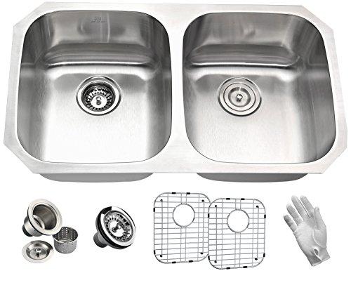"32"" Stainless Steel Undermount Kitchen Sink - Brushed Satin"