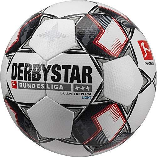Derbystar Brilliant - Balón de fútbol, Color Blanco/Negro/Rojo, 5 ...