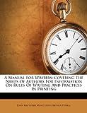 A Manual for Writers, John Matthews Manly, 1286435919