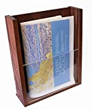 Premium Wood Magazine Display/Brochure Holder – Large Countertop Stand with Acrylic Front – Handmade and Stained – 10.25″ x 12″ Sturdy Desktop Pamphlet Organizer Made with Real Pine Wood Review