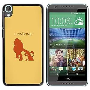 A-type Arte & diseño plástico duro Fundas Cover Cubre Hard Case Cover para HTC Desire 820 (León Reyes)