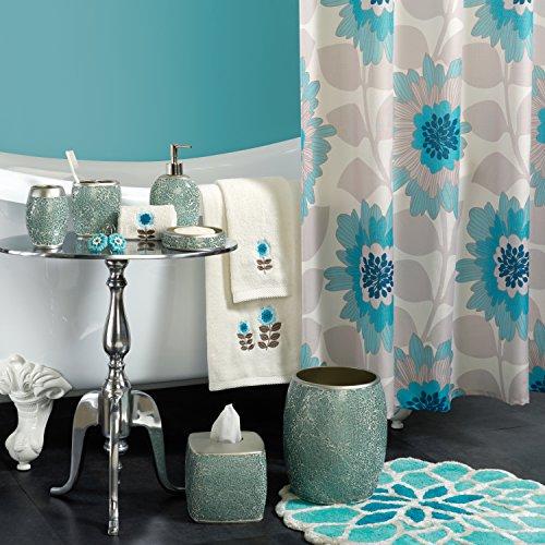 Zenna Home, India Ink Number 9 Floral Lotion or Soap Dispenser, Aqua