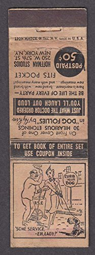 Hoffman Studios 250 W 57th St New York NY matchcover Some Service Eh - 57th St New York
