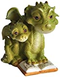 Top Collection Miniature Fairy Garden and Terrarium Mama Dragon Reading with Baby Statue Review