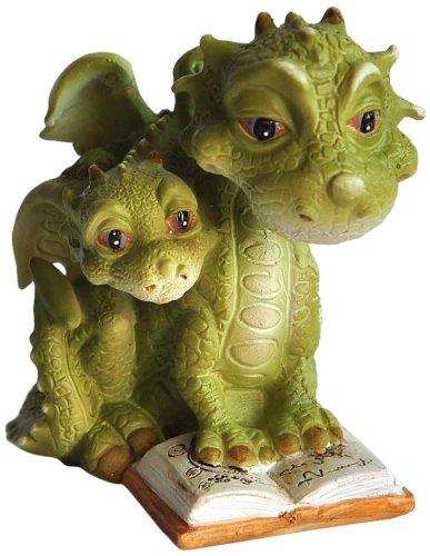 Animals Garden Statue (Top Collection Miniature Fairy Garden and Terrarium Mama Dragon Reading with Baby Statue)
