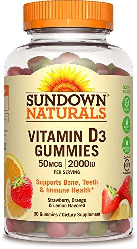 Sundown Naturals  Vitamin D3 2000 Iu  90 Gummies