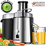 "MUELLER Juicer Ultra 1100W Power, Easy Clean Juice Extractor Press Centrifugal Juicer Machine, Wide 3"" Feed Chute for Whole Fruit Vegetable, Anti-drip, High Quality for Fruits and Vegetables, BPA-Free"