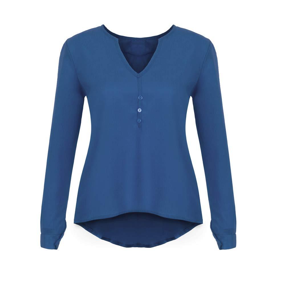 Qingsiy Camisas Mujer Blusa Suelta De Mujer Manga Larga Camiseta ...