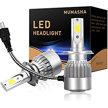LED Headlight Bulbs Headlight bulb H7 All-in-One Conversion Kit Led headlights H7 with COB Chips 8000 Lm 6500K Cool White Beam Bulbs IP68 Waterproof H4 H11 ...