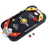 VKOPA Two Player Desktop 2 in 1 Soccer and Knock Hockey Table Top Game - Classic Arcade Games Tabletop Soccer Ball Ice Hockey Shooting Fun Toys For Kids