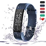 Fitness Tracker HR - Teslasz IP67 Waterproof Fitness Tracker With Heart Rate Monitor Auto-Sleep Monitor 14 Kinds of Traning Modes Fitness Tracker 0.96 Inches OLED Display Activity Tracker (Blue)