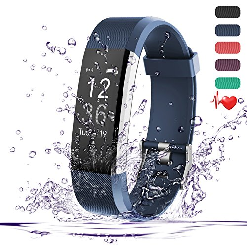Teslasz Fitness Tracker HR, IP67 Waterproof Fitness Tracker
