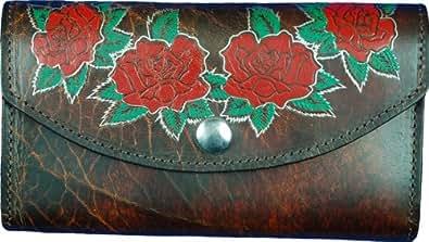 Womens Handcrafted Wallet - Dark Brown