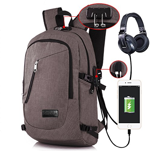 Business Laptop Bag With USB And Headphone Port And Fixed...