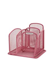 Safco Products 5901PI Onyx Mesh Mini Desktop Organizer, Pink