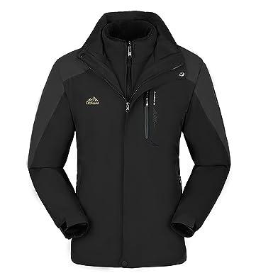 5b1678716076c KAISIKE Women s Windproof Softshell Fleece Ski Jacket 3 in 1 Outdoor Sports  Coat(W168