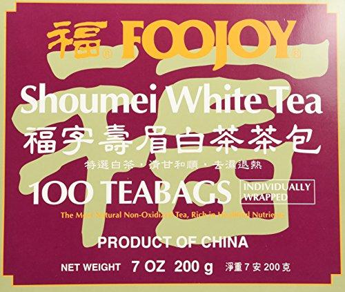 Foojoy Shoumei White Tea 100 Tea Bags by FooJoy