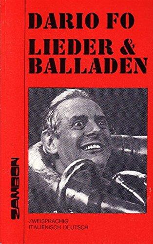 Lieder und Balladen: Italienisch/Deutsch (Tedesco) Copertina flessibile – 1 gen 1984 Dario Fo Helga Kopp Heide Cintamani Brüske Zambon Verlag + Vertrieb