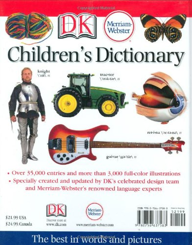 Merriam Webster Childrens Dictionary Amazoncouk DK Publishing 9780756637583 Books