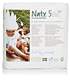 Naty by Nature Babycare Eco-Friendly Disposable Baby Diapers, Size 5, 4 packs of 23 (92 diapers)