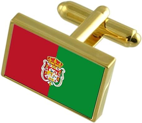 Select Gifts La Ciudad de Granada España Bandera de Oro Gemelos: Amazon.es: Joyería