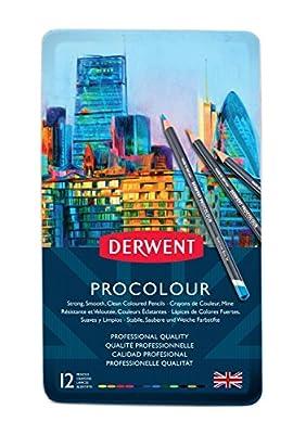 Derwent Colored Pencils, Procolour Pencils, Drawing, Art, Metal Tin