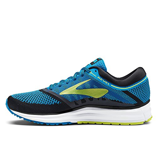 Brooks Scarpe Running Uomo - Revel - 110260-433 - Methy-Blue-LimePopsicle-Black-45