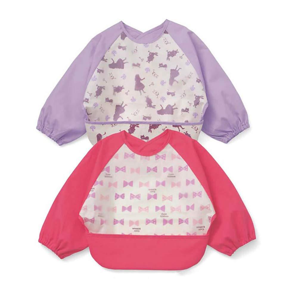 Baby Waterproof Sleeved Bib Childrens Smock Waterproof,Baby Smock,Toddler Smock Bear